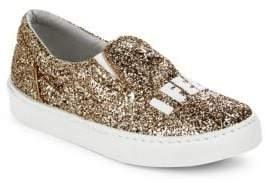 Chiara Ferragni Glittery Round-Toe Sneakers