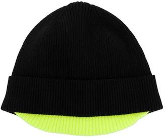 Diesel contrast-trim beanie hat