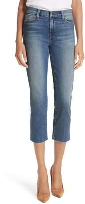 L'Agence Jaden Crop Straight Leg Jeans