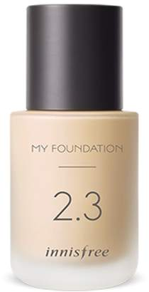 "N°21 Innisfree My Foundation Semi Matte 30ml "" 2018 New Product "" (. Semi Matte Perfect Cover 2.5 N21)"