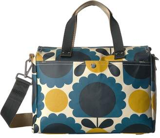 Orla Kiely Matt Laminated Scallop Flower Small Zip Messenger Messenger Bags