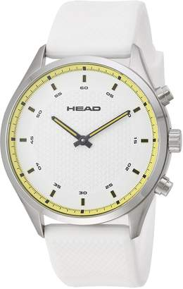 Head Men's 'Advantage' Quartz Stainless Steel and Silicone Casual Watch, Color: (Model: HE-002-03)
