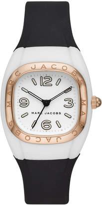 Marc Jacobs Women Unibody Black Silicone Strap Watch 36mm