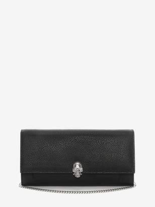 Alexander McQueen Continental Skull Leather Wallet