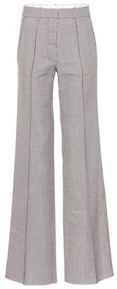 Victoria Beckham Checked wool wide-leg pants