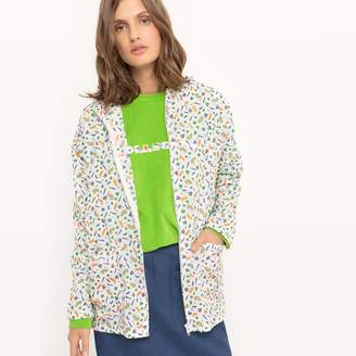 La Redoute Collections Short Hooded Printed Waterproof Windcheater