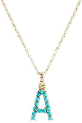 """Jennifer Meyer Women's """"A"""" Pendant Necklace"""