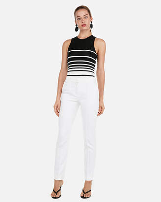 Express Stripe High Neck Ponte Tank