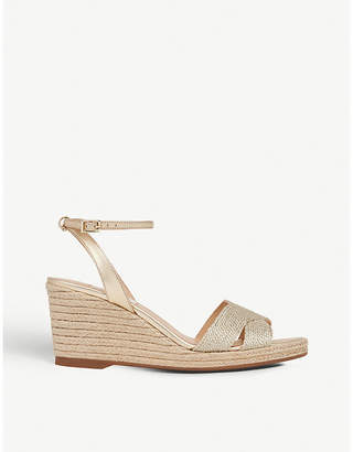 LK Bennett Mabella metallic rope wedged sandals