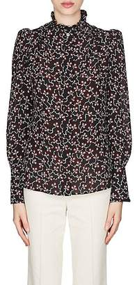 Isabel Marant Women's Lamia Silk Crêpe De Chine Blouse - Black