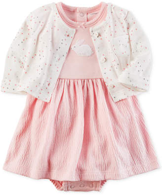 Carter's 2-Pc. Cardigan & Bunny Bodysuit-Dress Set, Baby Girls (0-24 months) $12.98 thestylecure.com