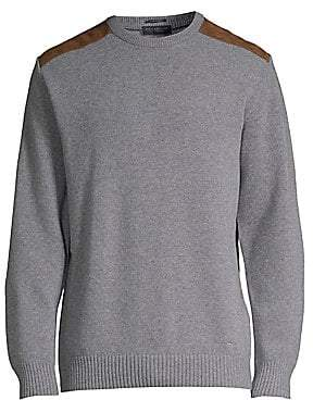 Paul & Shark Paul& Shark Paul& Shark Men's Suede Shoulder Patch Sweater