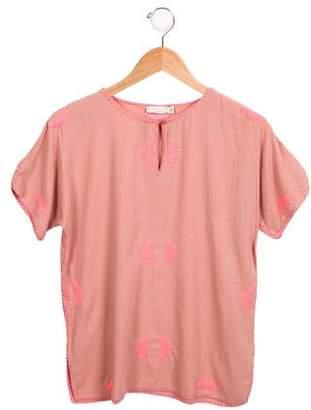 Stella McCartney Girls' Short Sleeve Embroidered Tunic