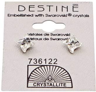Crystallite Destine Clear Pinwheel Earrings