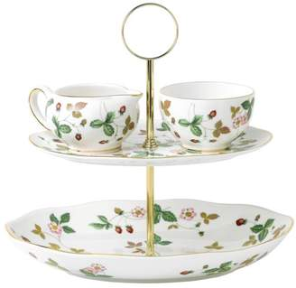 Wedgwood Wild Strawberry Two-Tiered Cake Stand