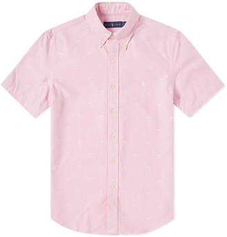 Polo Ralph Lauren Short Sleeve Palm Jacquard Shirt