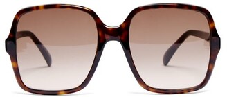 8eefbd4a5d Givenchy Oversized Square Frame Acetate Sunglasses - Womens - Tortoiseshell