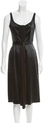 Martin Grant Satin Midi Dress