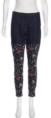 Cinq à Sept Embroidered High-Rise Jeans w/ Tags