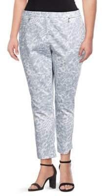 Calvin Klein Plus Animal-Print Pants