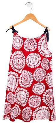 Hannah Andersson Girls' Floral Print Sleeveless Dress