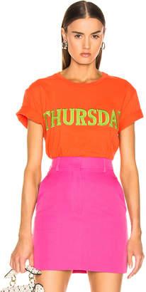 Alberta Ferretti Thursday Tee in Orange | FWRD