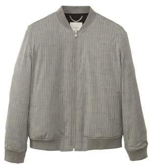 MANGO Pinstripe bomber jacket