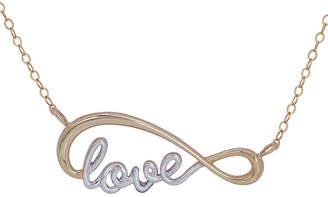 FINE JEWELRY Womens 10K Gold Infinity Pendant Necklace