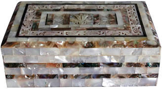 One Kings Lane Vintage Mother-of-Pearl Box - Faded Rose Antiques LLC