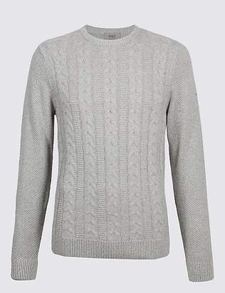 M&S Collection Pure Cotton Cable Jumper