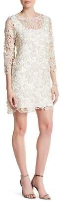 Marina Metallic Lace Dress $189 thestylecure.com