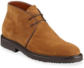 Ermenegildo Zegna Men's New Trivero Suede Lug-Sole Chukka Boots