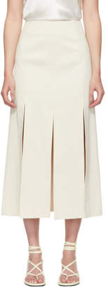 3.1 Phillip Lim Off-White Sateen Multi Slit Skirt