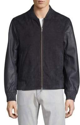 Saks Fifth Avenue Leather Bomber Jacket