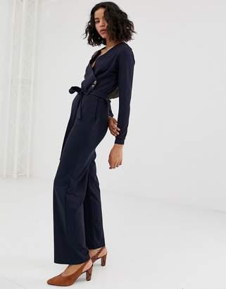 Vero Moda wrap button detail jumpsuit