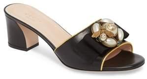 Gucci Bee Embellished Slide Sandal