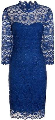 Paper Dolls Womens **Paper Dolls Cobalt Sequin Lace Bodycon Dress
