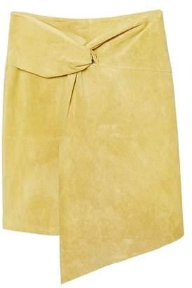 MANGO Knot fur skirt