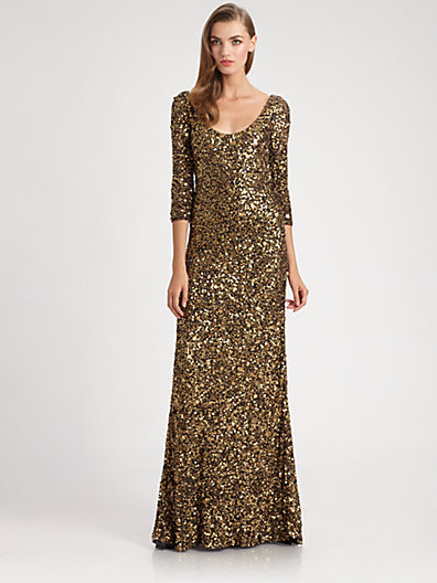 Theia Sequined Gown