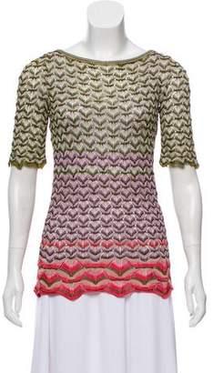 Missoni Patterned Silk-Blend Top