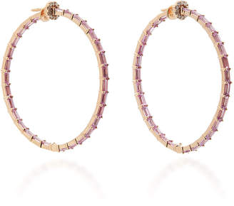 Nam Cho 18K Rose Gold Sapphire And Diamond Earrings