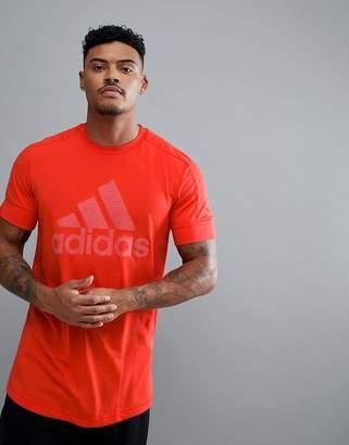 adidas Athletics Logo T-Shirt In Red CF2109