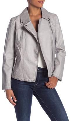 Bagatelle Faux Leather Zip Moto Jacket