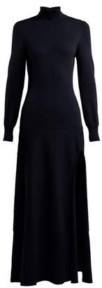 Jacquemus La Robe Baya Knitted Maxi Dress - Womens - Navy