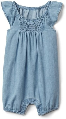 Chambray flutter shorty one-piece $29.95 thestylecure.com