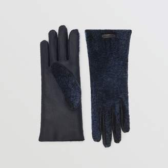 Burberry Shearling and Leather Gloves