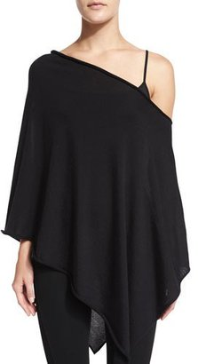 Ralph Lauren Collection Off-The-Shoulder Asymmetric Poncho, Black $1,490 thestylecure.com