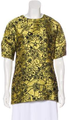 Lela Rose Floral Embroidered Tunic