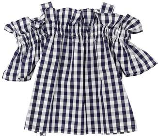 Il Gufo Gingham Print Cotton Poplin Shirt