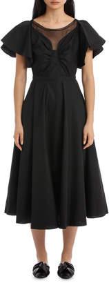 No.21 Black Midi Dress